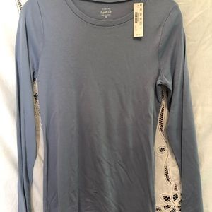 JCrew long sleeve T-shirt XL NWT